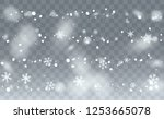 realistic snow background.... | Shutterstock .eps vector #1253665078