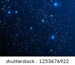 interlinked nodes plexus... | Shutterstock .eps vector #1253676922