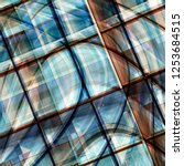 glass roof viewed through... | Shutterstock . vector #1253684515