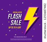 flash sale banner template... | Shutterstock .eps vector #1253687482
