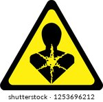 warning sign with carcinogenic... | Shutterstock . vector #1253696212