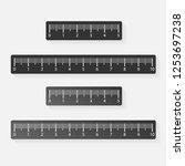 set of tape ruler metric... | Shutterstock .eps vector #1253697238