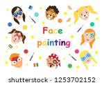face painting for kids... | Shutterstock .eps vector #1253702152