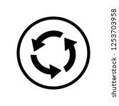 black round refresh three... | Shutterstock .eps vector #1253703958