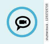 speech bubble icon symbol....   Shutterstock .eps vector #1253725735
