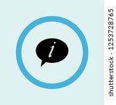 speech bubble icon symbol....   Shutterstock .eps vector #1253728765