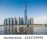 riverside view of vinhomes...   Shutterstock . vector #1253729995