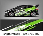 car decal sticker wrap design... | Shutterstock .eps vector #1253732482