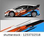 car decal sticker wrap design...   Shutterstock .eps vector #1253732518