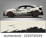 car wrap design vector  truck... | Shutterstock .eps vector #1253735245