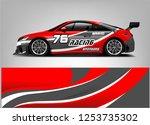 car wrap design vector  truck... | Shutterstock .eps vector #1253735302