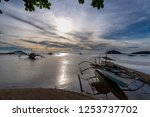boat on the beach in coron ... | Shutterstock . vector #1253737702