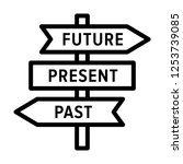future  present and past road... | Shutterstock .eps vector #1253739085