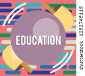 text sign showing education....   Shutterstock . vector #1253745115