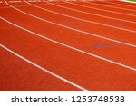 red running track for athletics ... | Shutterstock . vector #1253748538