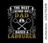 labourer father day quote and... | Shutterstock .eps vector #1253750398
