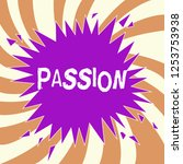 handwriting text passion.... | Shutterstock . vector #1253753938