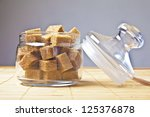Cubes Of Brown Sugar In The...