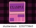 writing note showing example.... | Shutterstock . vector #1253775865