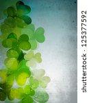 irish four leaf lucky clovers...   Shutterstock .eps vector #125377592