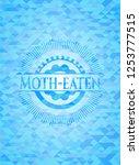 moth eaten light blue emblem.... | Shutterstock .eps vector #1253777515
