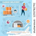 worldwide air delivery service... | Shutterstock . vector #1253782792