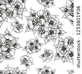 flower print. elegance seamless ...   Shutterstock .eps vector #1253801938