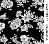 flower print. elegance seamless ... | Shutterstock .eps vector #1253801995