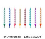 colorful birthday candles... | Shutterstock .eps vector #1253826205