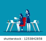 business team use the tablet in ... | Shutterstock .eps vector #1253842858