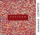 seamless pattern leaves color... | Shutterstock .eps vector #1253849755