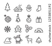 icon christmas  vector   Shutterstock .eps vector #1253851192
