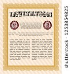 orange invitation template.... | Shutterstock .eps vector #1253854825