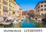 livorno  tuscany  italy   april ... | Shutterstock . vector #1253855095