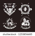 paintball game sport club logo... | Shutterstock .eps vector #1253856685