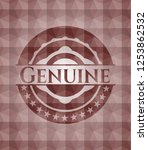 genuine red badge with... | Shutterstock .eps vector #1253862532
