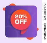 20  off discount tag. vector...   Shutterstock .eps vector #1253881972