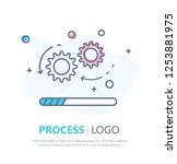 process icon. flat design....   Shutterstock .eps vector #1253881975