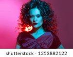 femme fatale dancing  portrait... | Shutterstock . vector #1253882122
