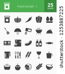 food   drinks glyph icons   Shutterstock .eps vector #1253887225