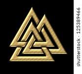 wotan s knot gold   valknut  ...   Shutterstock . vector #125389466