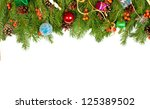 christmas background with balls ... | Shutterstock . vector #125389502