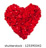 Heart Shape Made Out Of Rose...