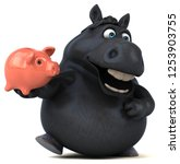 fun horse   3d illustration   Shutterstock . vector #1253903755