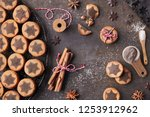 christmas cookies with... | Shutterstock . vector #1253912962