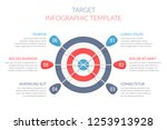 target with six arrows with... | Shutterstock .eps vector #1253913928
