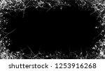 halftone grunge vector frame... | Shutterstock .eps vector #1253916268