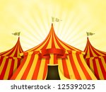 Big Top Circus Background With...