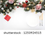 christmas and new year party... | Shutterstock . vector #1253924515