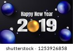 happy new year 2019 template....   Shutterstock .eps vector #1253926858
